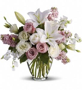 Vase avec fleurs mélangées